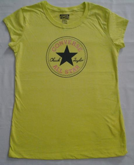 33043bca8fe49 0395 Converse Girls All-Star T-Shirt Chuck Taylor Stamp Lime ...
